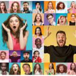 21 surprise party ideas - collage of surprised people.