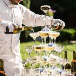 wedding slide champagne fountain, plan a wedding with a wedding alcohol calculator